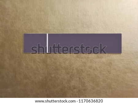 blank sign, blank plate, blank notice plate,, blank plate on gold texture wall. #1170636820