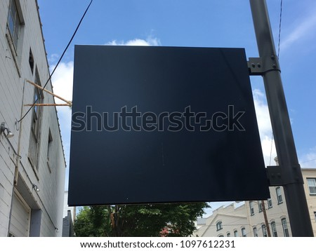 Blank Sign - Empty Sign - Blank Canvas Concept