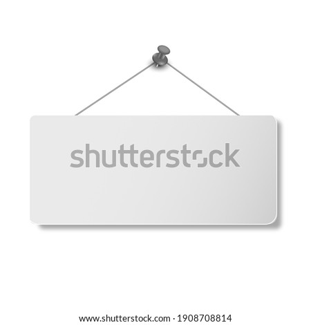 blank sign icon on white background. 3D illustration Photo stock ©