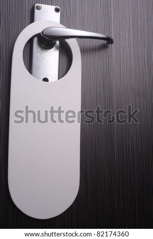 blank sign on the door handle - stock photo