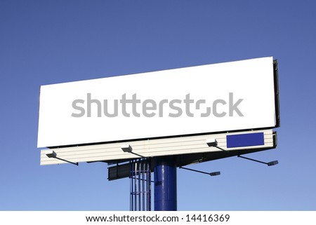blank sign with clipping path