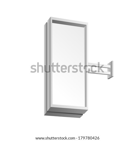 Blank Signboard Isolated on White Background #179780426