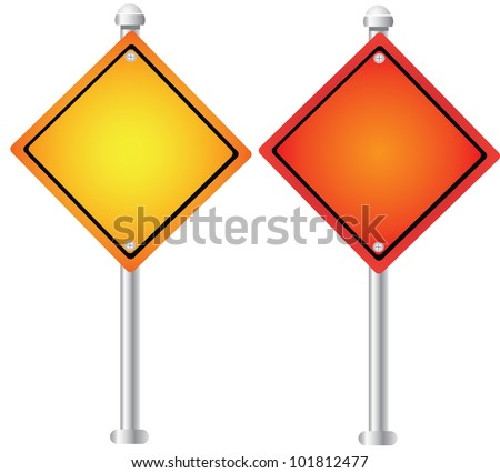 Blank signpost on white background