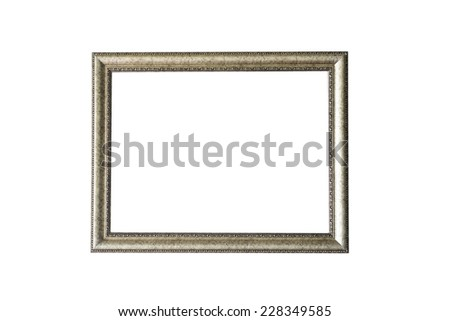 blank silver frame isolated on white