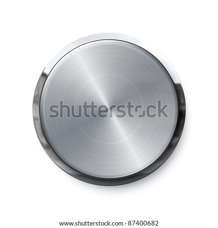 Blank silver shiny push button