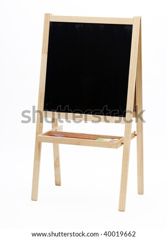 Blank slate, chalkboard isolated on the white background