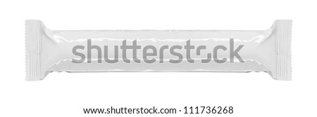 blank snack bar package isolated over white background