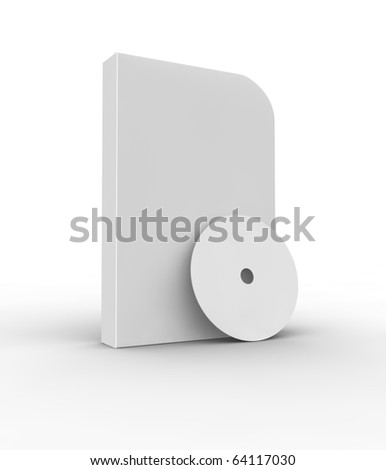 Blank software box and cd isolated on white.