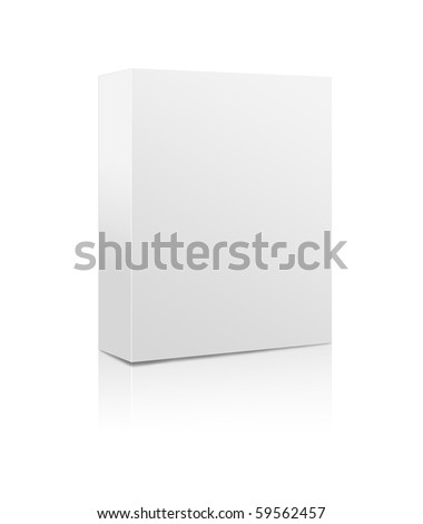 Blank software box isolated on a white background