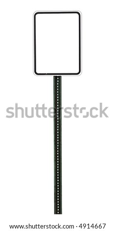 blank speed limit sign with room for text