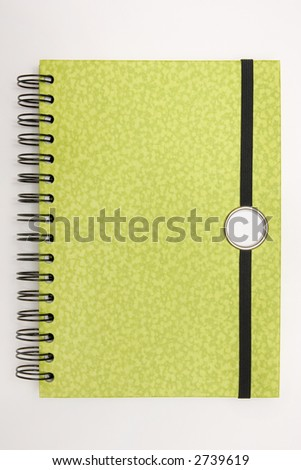 Blank spiral design notebook ready for writing
