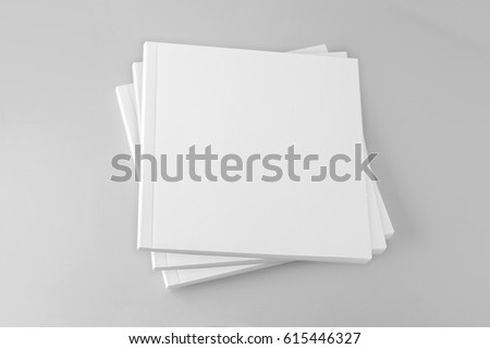 Blank square cover book template #615446327