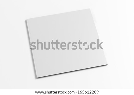 Blank Square Magazine with soft shadows isolated on white