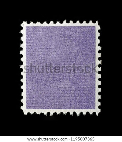 Blank square postage stamp with purple patterned background. #1195007365