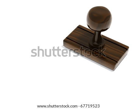 Blank stamp with copy space