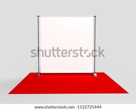 Blank Step and Repeat Telescoping Backdrop Banner. 3d render illustration.