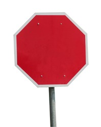 Blank stop sign frame