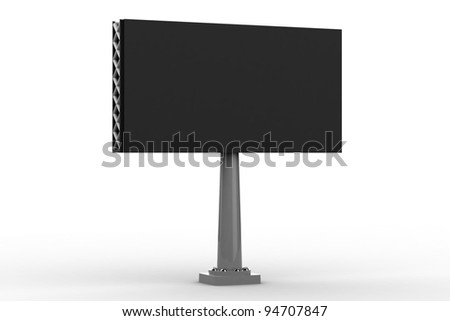 Blank street advertising billboard on gray background
