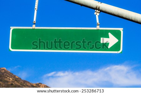 Blank Street Sign. A blank street sign without anything printed on it.