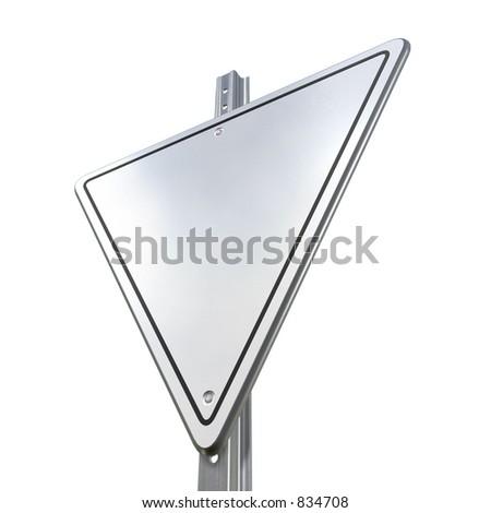 Blank Street Sign 3D