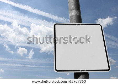 Blank street sign to fill up with own signs #65907853