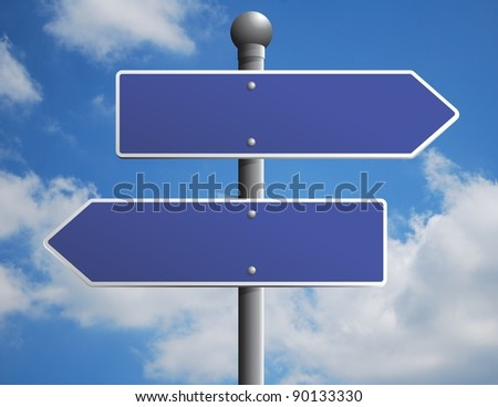 Blank street sign to place your own message on #90133330