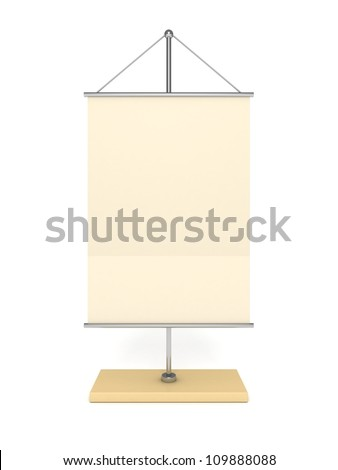 blank table info flag on white background