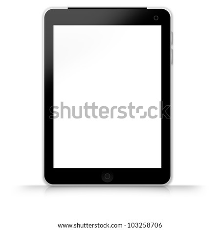 Blank Tablet PC Isolate on White Background