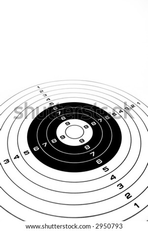 Blank target ready to achievement and competition