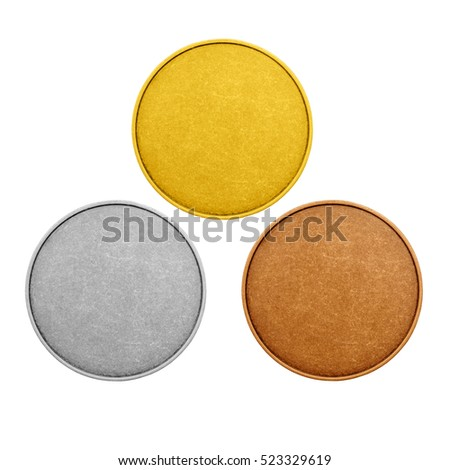 free photos blank template for coin or medal with metal texture