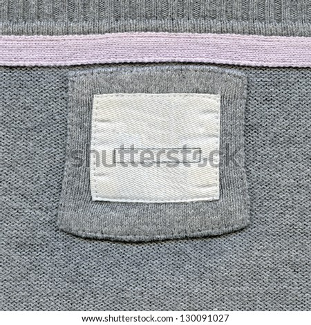 Blank textured label. Fragment of texture with pure label for your text.