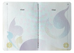 Blank Thai passport isolated on white background