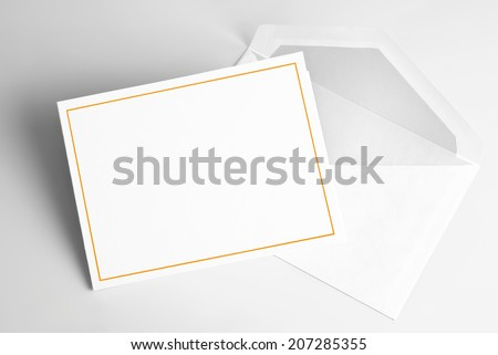 Blank  thank you or greeting card and envelope #207285355