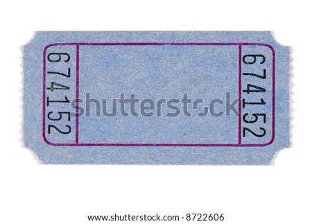 free photos blank ticket blank blue movie or raffle ticket