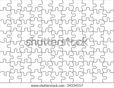 Blank transparent puzzle to be used on any image