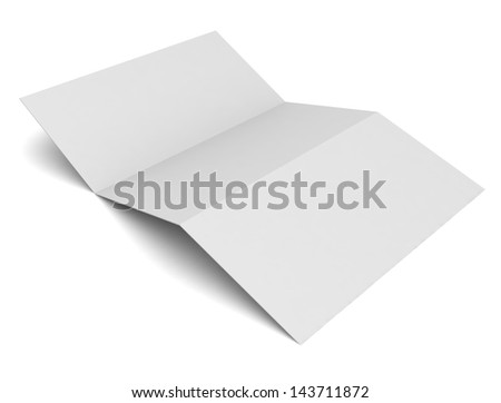 blank tri fold brochure and business card isolated on white ez canvas