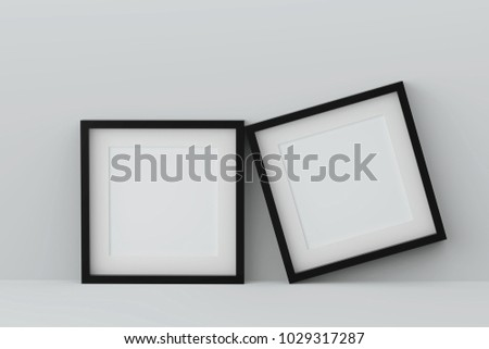 Blank two picture frame for insert text or image inside.