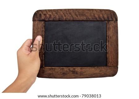 blank vintage black board