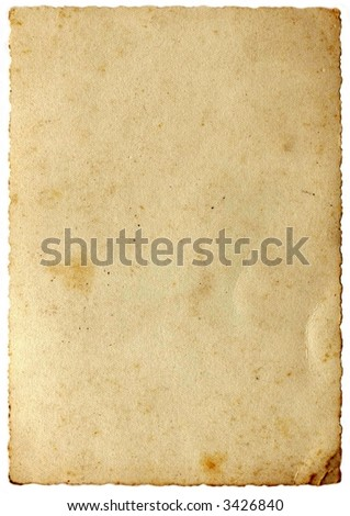 Blank Vintage Paper Parchments In Sepia Stock Photo 3426840 ...