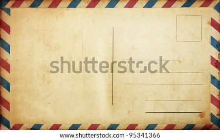 Blank vintage postcard - stock photo