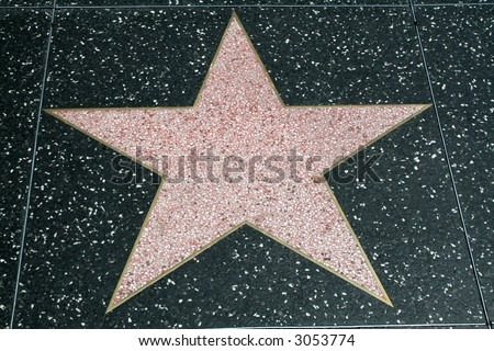 Blank Walk of Fame Star