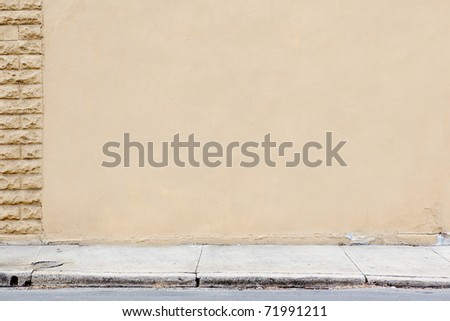 blank wall sidewalk background