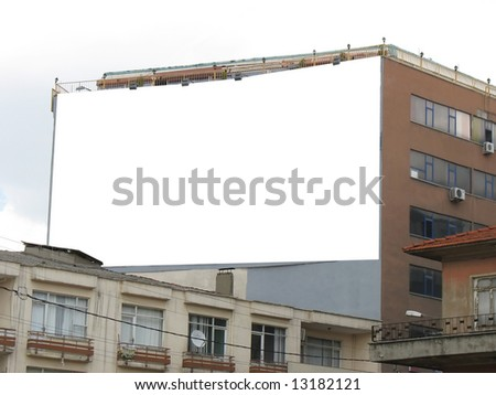 Blank Wallscape Billboard - Including clipping path around blank area.