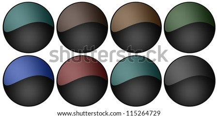 Blank web buttons - Suitable for the web page. - stock photo
