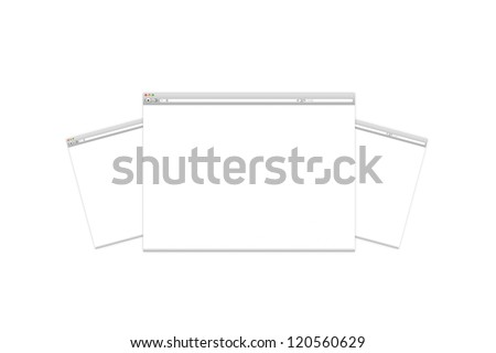 Blank Web Page isolated on white
