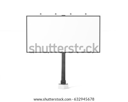 Blank white banner mockup on black city billboard, 3d rendering. Empty bill board mock up isolated. Clear canvas template on sity street sign. Large outdoor poster screen. Big cityboard signage stand.