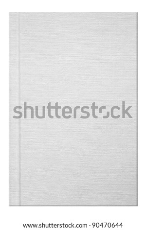 Blank white book with linen texture