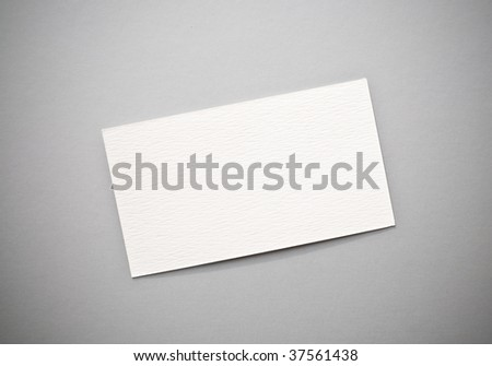 Blank white cards with paperclip