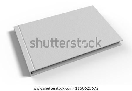 Blank white catalog, magazines,book mock up. 3d render illustration.