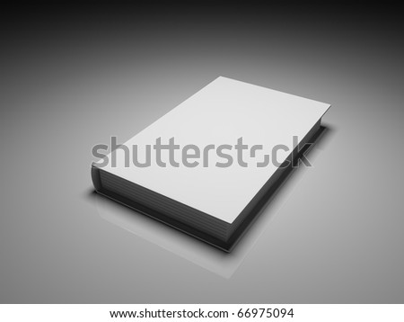 Blank white cover book over a grey background